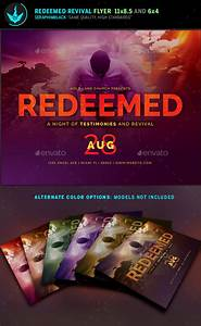 free church revival flyer template - redeemed revival church flyer template by seraphimblack