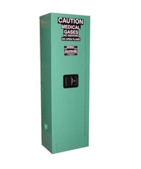 MG102FL MedGas Oxygen Gas Cylinder Storage Cabinet, OSHA