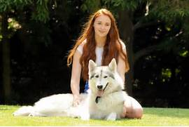 Sophie Turner from Game of Thrones is now legal   Page 2   IGN Boards  Direwolf Game Of Thrones Nymeria