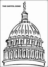 Capitol Dome Clipart Building Coloring Pages Clip Domes Printable Capital Activity States Cliparts United Vector Clipground Domain Fun Clker Rating sketch template