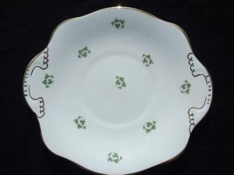 royal tara irish green shamrock china cranberry bowl