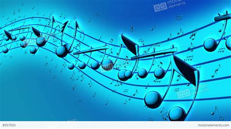 animated background  musical notes stock video footage