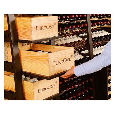 caisse en bois pour le rangement de 12 bouteilles de vin eurocave