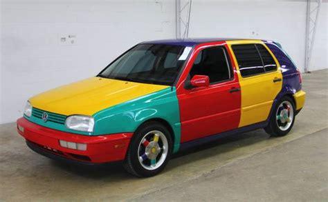 volkswagen harlequin rare factory art car 1996 volkswagen golf harlequin