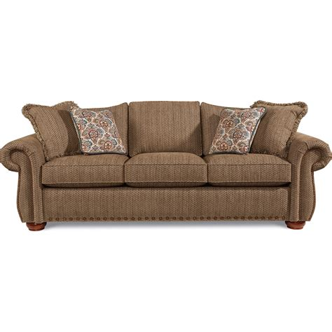 La Z Boy Sofa by La Z Boy Wales Traditional Sofa With Rolled Arms And Two