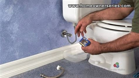 fix  toilet water supply valve replacement