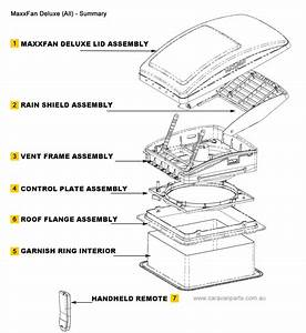Spare Parts Diagram  Maxxfan Deluxe