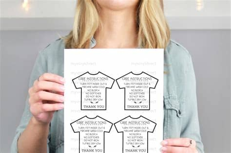Caluya design's svg cut file & font downloads are 100% free for personal use. TShirt Care Instructions Printable PDF File By My Vinyl ...