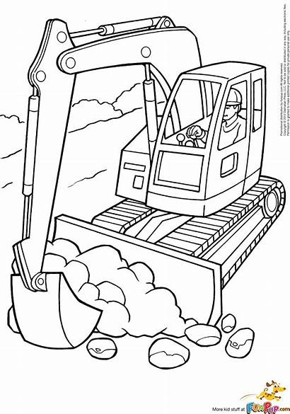 Coloring Construction Pages Printables Equipment Popular