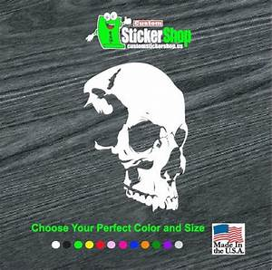 shadow skull vinyl decal stickers With custom sticker website