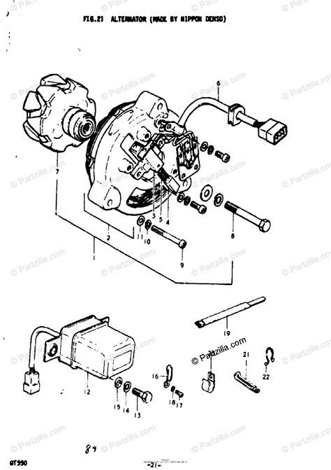 suzuki motorcycle 1976 oem parts diagram for alternator nippon denso partzilla com