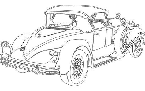 Vintage Car Dxf File Free Download