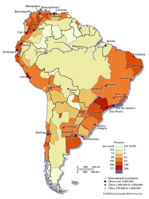 Population Density and Distribution LatinAmerica