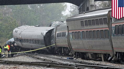 Amtrak Collides With Parked Freight Train