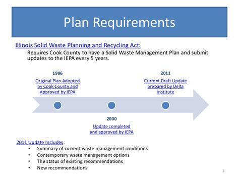 Plan Requirementsillinois Solid Waste Planning