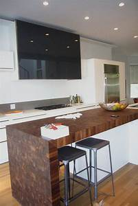 waterfall countertops - Wood Countertop, Butcherblock and