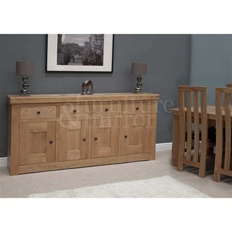 Chunky Oak Sideboard by Chunky Four Door Solid Oak Sideboard Furniture And Mirror