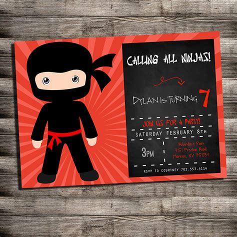 karate birthday invitations  kids  printable