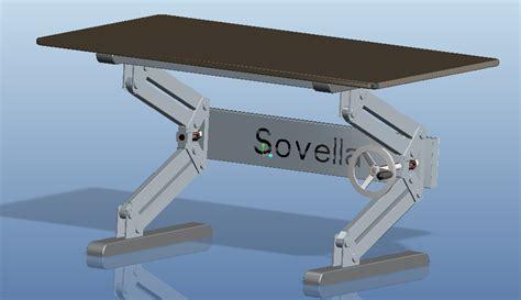 standing desk lift mechanism height adjustable table step iges 3d cad model