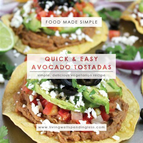 vegetarian recipes easy easy guacamole tostadas recipe dishmaps