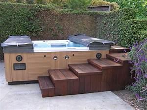 Spa Extérieur Bois : pingl par karen kocik sur bath tubs hot tubs ~ Premium-room.com Idées de Décoration