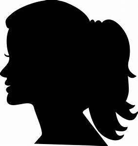 Woman Head Side Silhouette Svg Png Icon Free Download ...