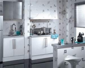 Tapisserie Pour Cuisine : papierpeint9 papier peint 4 murs cuisine ~ Premium-room.com Idées de Décoration