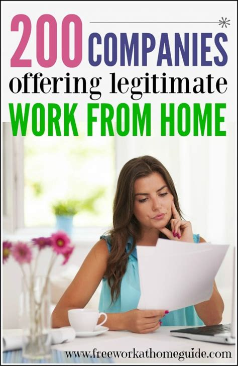legitimate work at home 200 companies offering legitimate work at home jobs