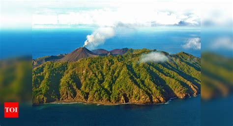 Infographic: Barren Island erupts again - Times of India