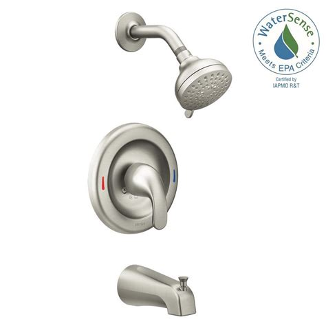 moen tub valve specs moen adler 1 handle 4 spray tub and shower faucet with
