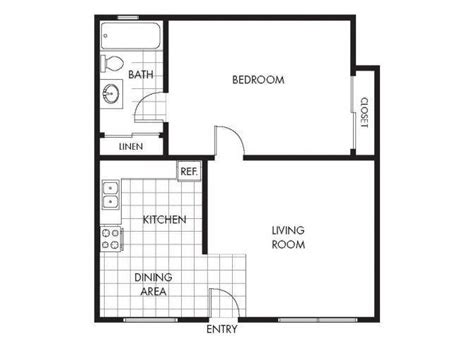 One Bedroom Apartment Layout Plan by One Bedroom Apartments In Marina Ca Marina Crescent