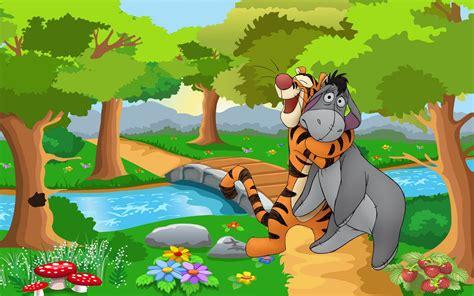 tigger  eeyore winnie  pooh cartoon hd wallpaper
