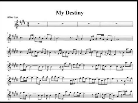 My Destiny Saxophone Demo By Allegraco Youtube