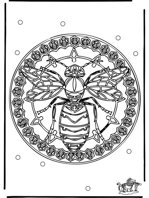 mandala wespe malvorlagen tiermandalas