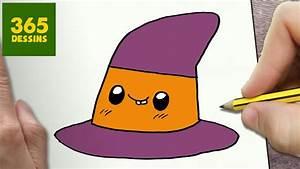 Dessin D Halloween Facile : comment dessiner chapeau de sorci re kawaii tape par ~ Dallasstarsshop.com Idées de Décoration