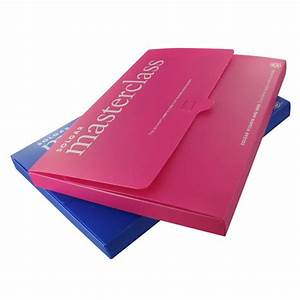 recycled polypropylene a4 document wallet promotional With printed document folder