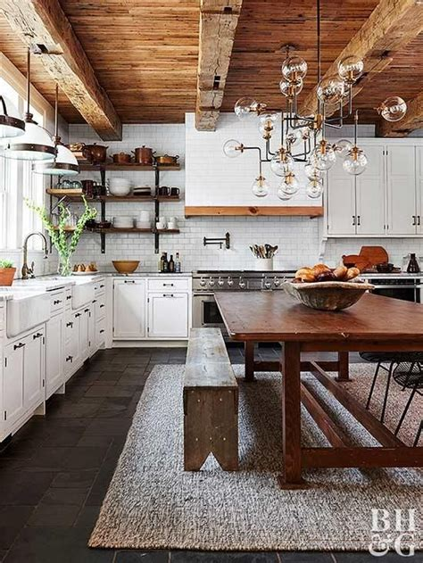 warm welcoming style characterizes country kitchens
