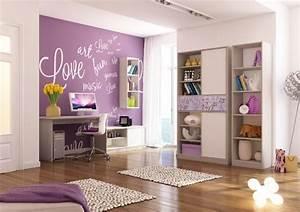 Flieder Farbe Wand : kreatywny pok j dla nastolatki prosto od meblik aran acje wn trz ~ Markanthonyermac.com Haus und Dekorationen