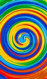 Art Swirl Rainbow Splash Color Paint Abstract Background ...