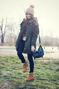 Navy Skinny Asos Jeans Tawny Suede Timberland Boots | u0026quot;Winter Casualu0026quot; by mrs_whiskers | Chictopia