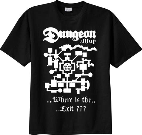 t shirt the dungeon master map d d dungeons dragons play dice rpg tshirt ebay