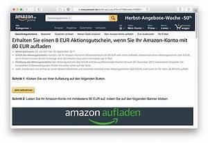 Aufladen De Gutschein : aktion amazon verschenkt 8 euro gutschein ~ Yasmunasinghe.com Haus und Dekorationen