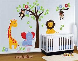 Nursery wall decals baby decal safari