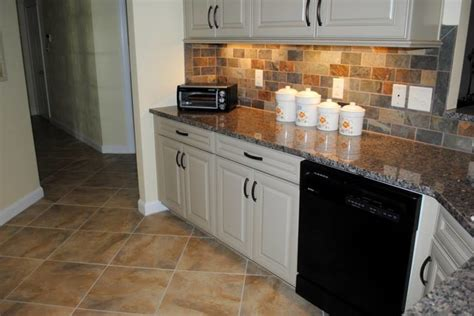 tile floor caledonia granite multicolored slate look