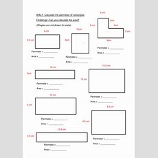 Perimeter And Area Worksheet By Callen5  Teaching Resources Tes