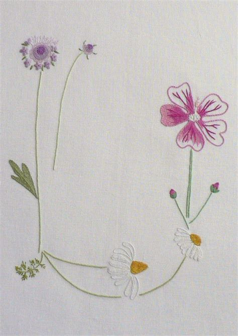 field flowers alphabet   images ribbon