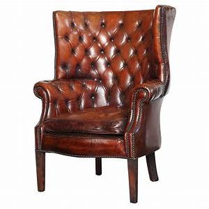 Georgian, Style, Leather, Library, Chair, At, 1stdibs
