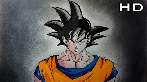 Cómo Dibujar a Goku Normal Fácil a Color Paso a Paso