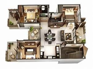 10 Plans 3d Pour Am U00e9nager Une Maison De 3 Chambres