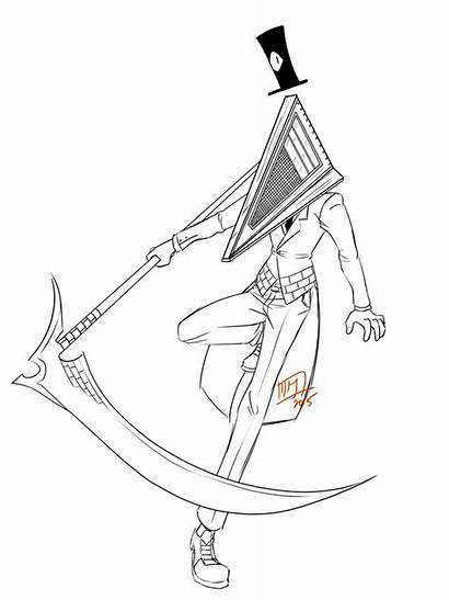 Pyramid Head Bill Hill Silent Deviantart Cipher
